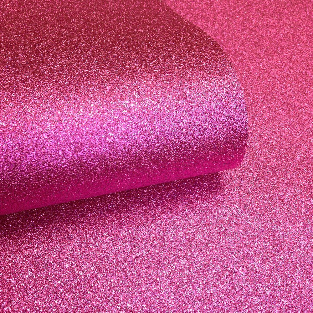 Muriva Sparkle Hot Pink Glitter Effect Quality Feature