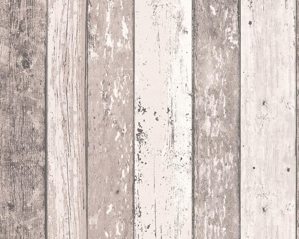 AS Creation New England Rustic Painted Wood Texture Feature Wallpaper 855053