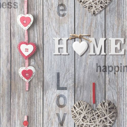 Love Your Home Grey Wood Shabby Chic Wallpaper Rustic ...