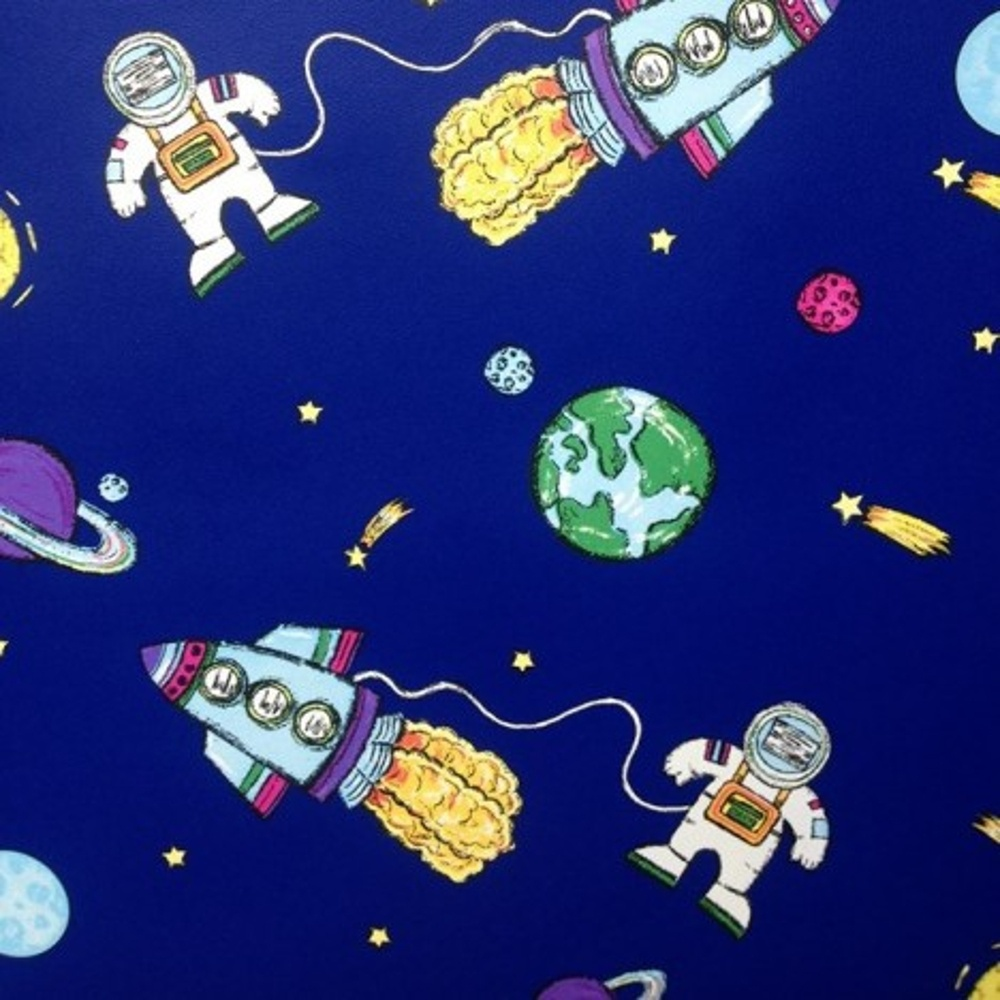 Blue Space Planets Rockets Childrens Kids Debona My Room Wallpaper 6338