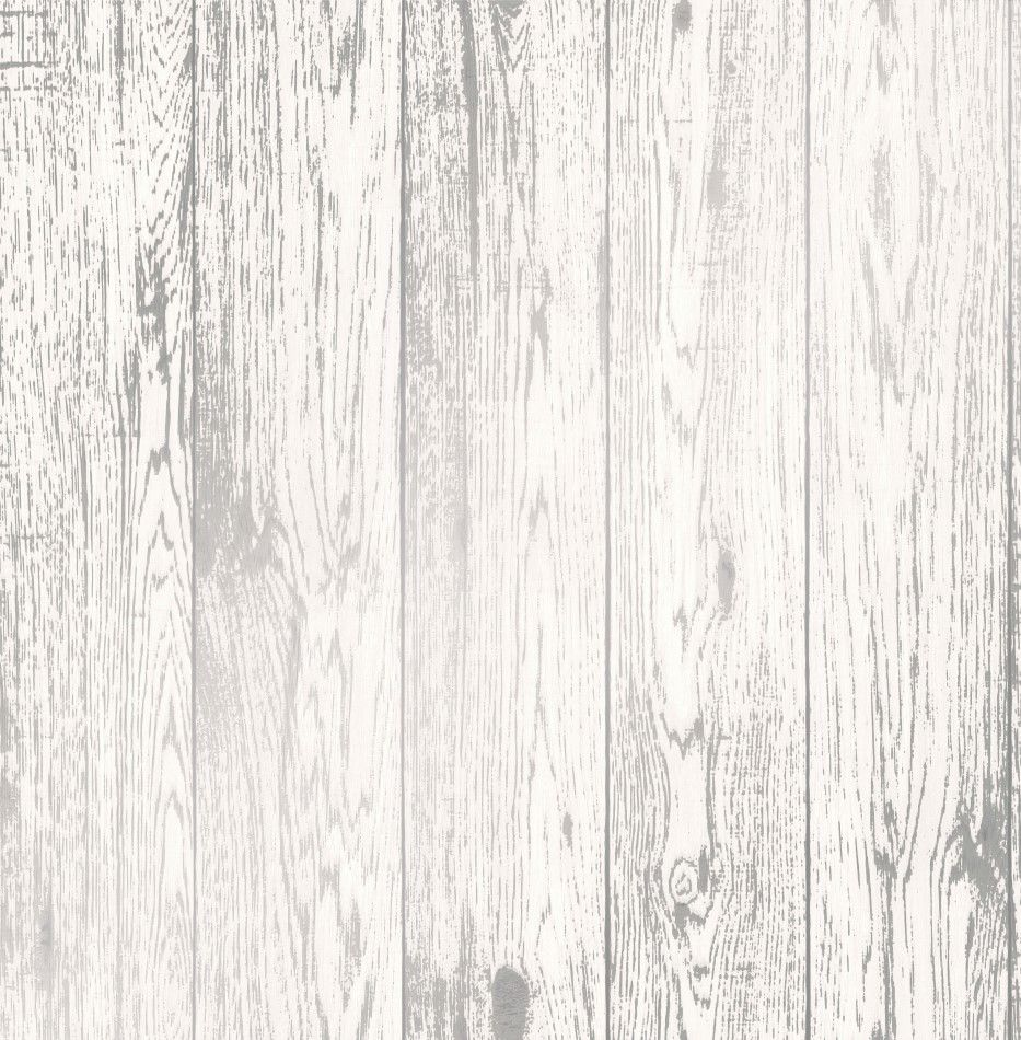 Loft Wood Silver Metallic White Wallpaper 3d Rustic Feature FD41957