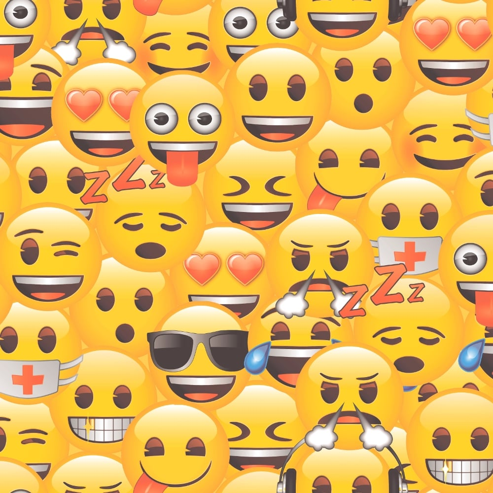 Official Emoji Faces Yellow Kids Childrens Girls Boys Feature Wallpaper